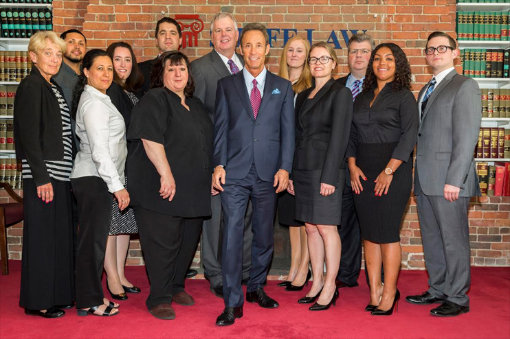 Boston personal injury lawyer Doug Sheff with the Sheff Law team