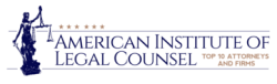 Frank Federico 2017 American Institute of Legal Counsel award badge