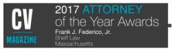 Frank Federico CV Magazine Attorney of the Year 2017 award badge