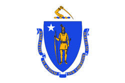 Color version of the state seal of Massachusetts
