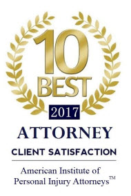 Frank Federico American Institute of Personal Injury Attorneys 10 Best 2017 award badge