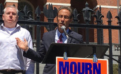 Boston injury lawyer Doug Sheff speaks at the Workers Memorial Day Commemoration