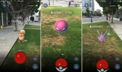 Screen captures from Pokemon Go