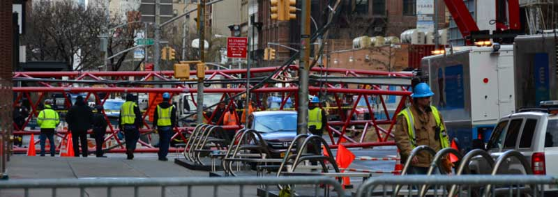 Bay Crane Collapse New York