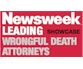 Newsweek Leading Wrongful Death Attorneys badge