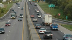 Daytime view of traffic on a Massachusetts highway