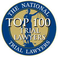 National Top 100 Trial Lawyers badge